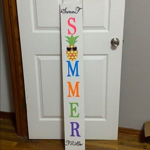 Front Sweet Summer Time Porch Sign